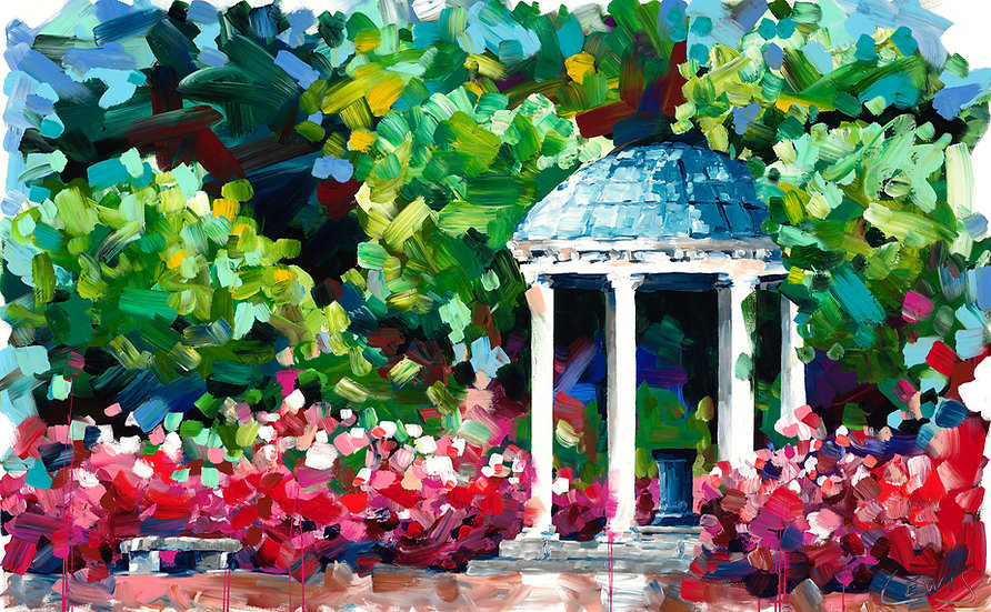 UNC Old Well Giclee