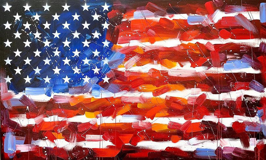 American Flag (30x48) Original