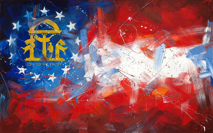 Georgia Flag Print