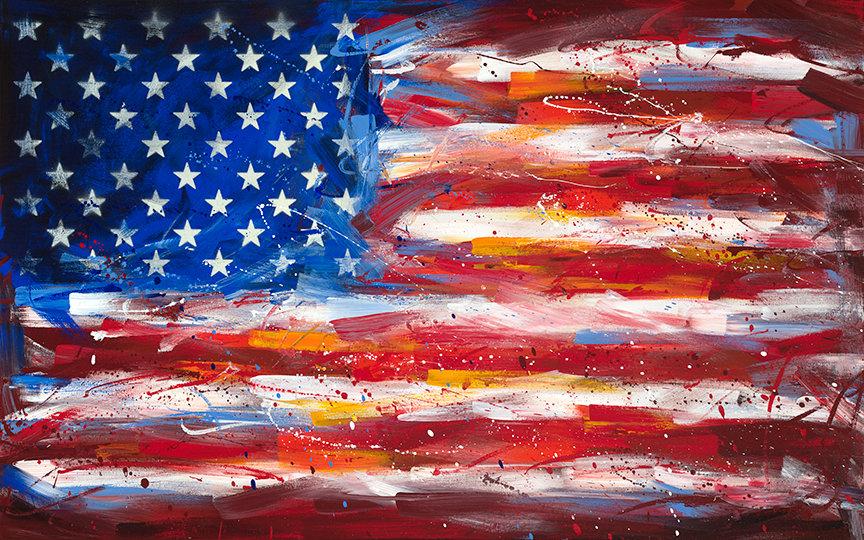 USA Flag Print