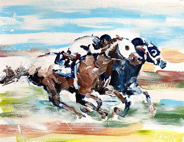 Horse Race on Paper Original