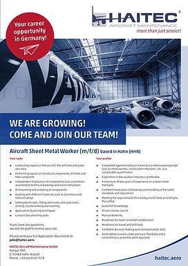 Aircraft Sheet Metal Worker (m/f/d)