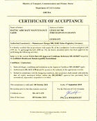 Approval Certficate of Aruba - DL_ACC_17