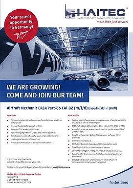 Aircraft Mechanic EASA Part-66 CAT B2 (m/f/d)