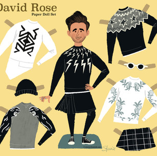 David Rose paper doll set