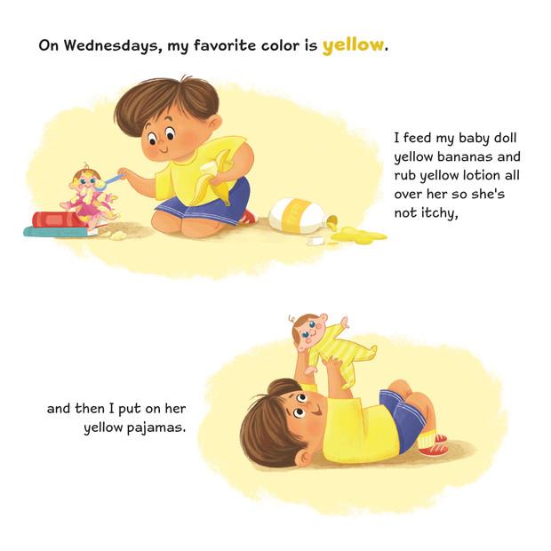 RAINBOW BOY Picture Book sample spread