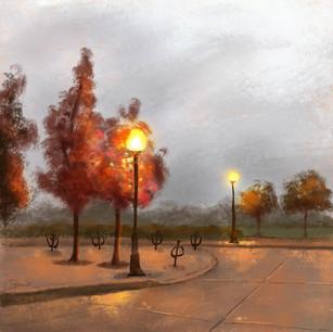 Fall streetlights