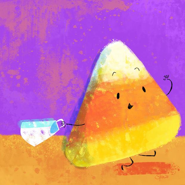 Cheery candy corn