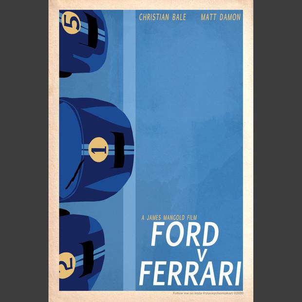 """""""Ford v Ferrari"""" 2019 Oscar poster design"""