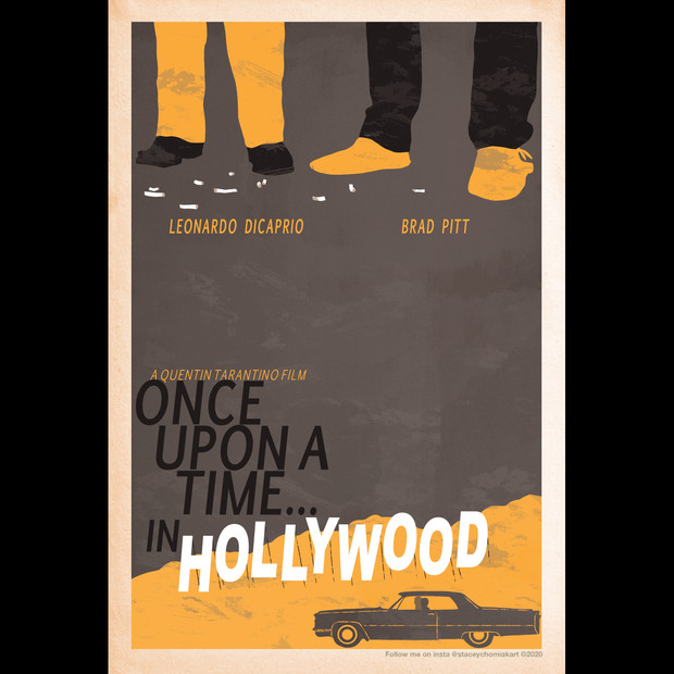 """""""Once Upon a Time... in Hollywood"""" 2019 Oscar poster design"""