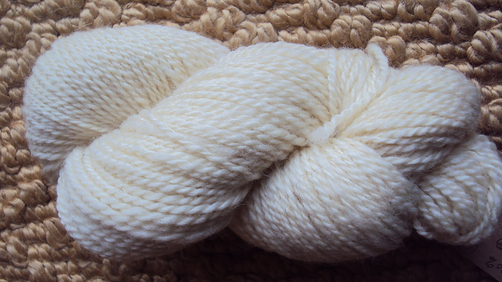 Cream 2 ply worsted weight