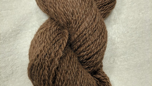 Light Brown Alpaca 2 ply worsted weight