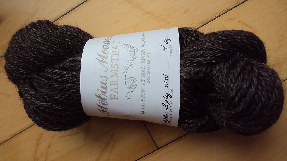 Dark Gray 3 ply worsted weight