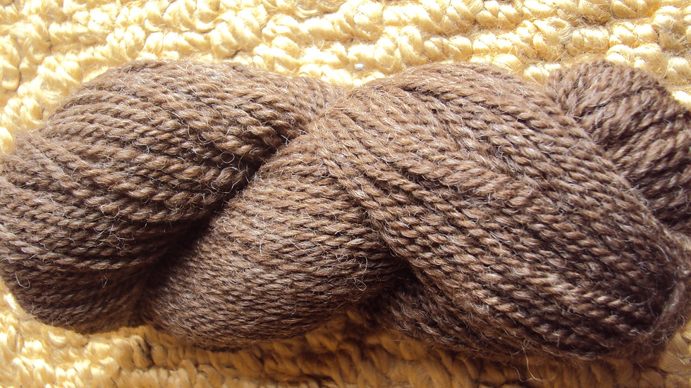 Brown 2 ply worsted weight