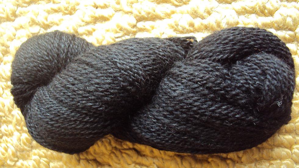Black Lambswool Yarn