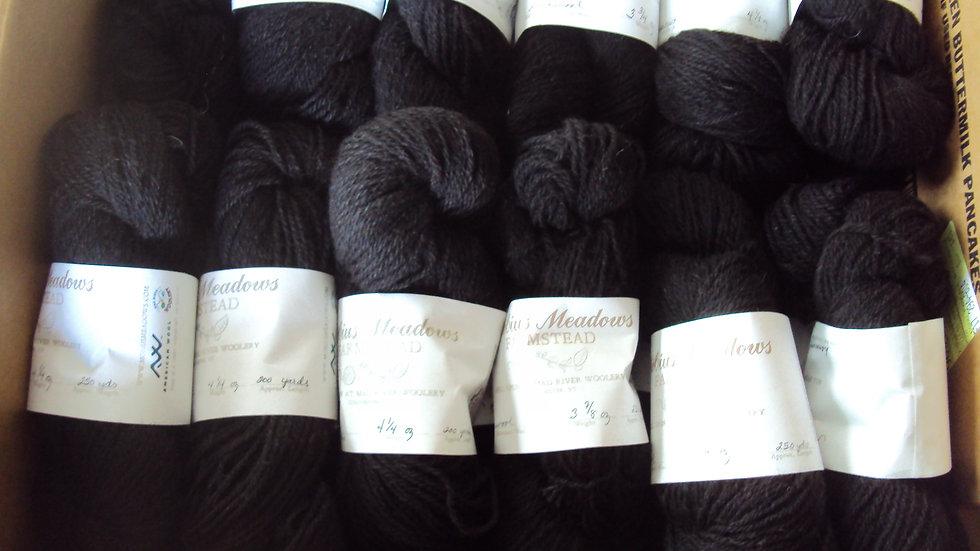 3 Ply Black Lambswool Yarn