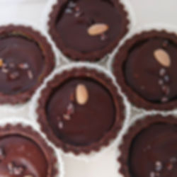 Chocolate caramel tarts available in _ar