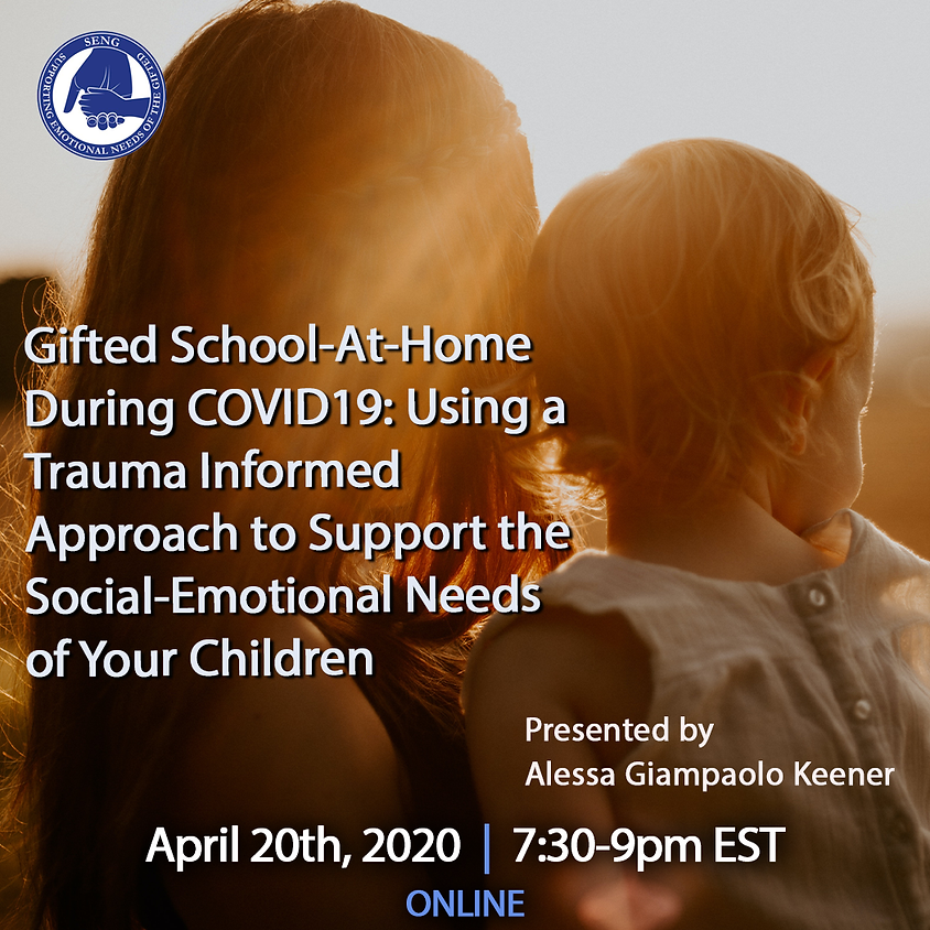 FREE SENGinar: Gifted School-At-Home During COVID19