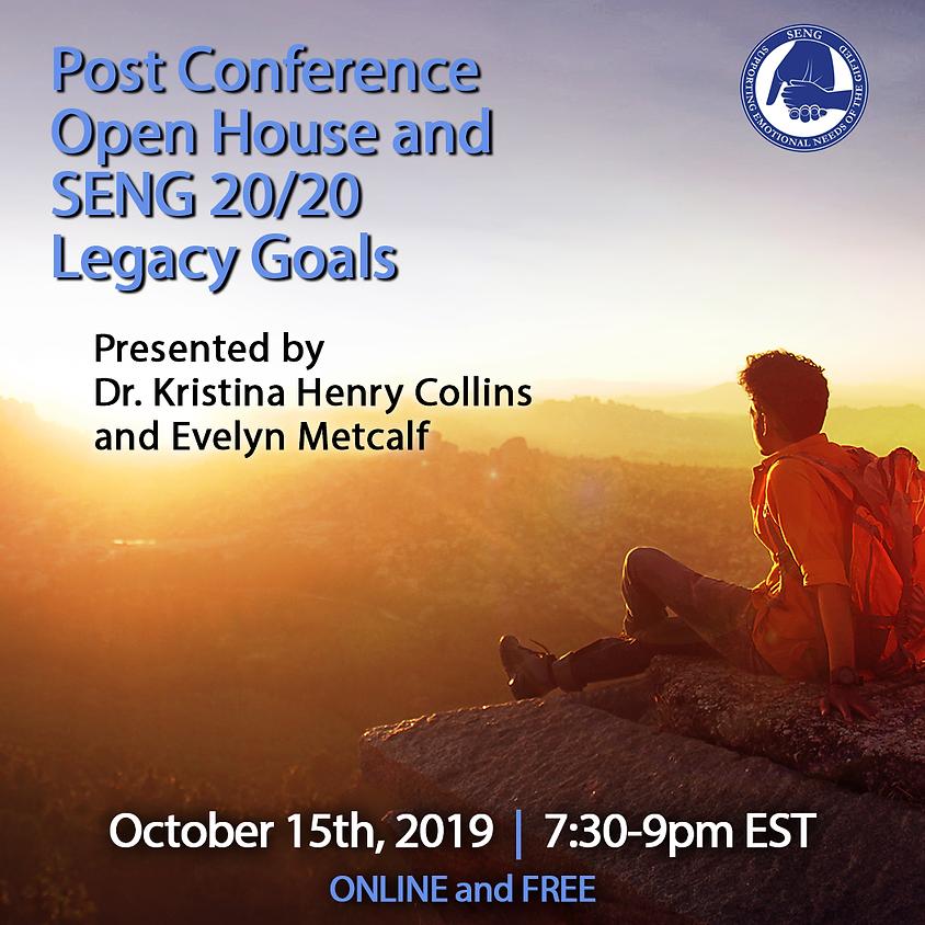 FREE SENGinar: Post Conference Open House and SENG 20/20 Legacy Goals