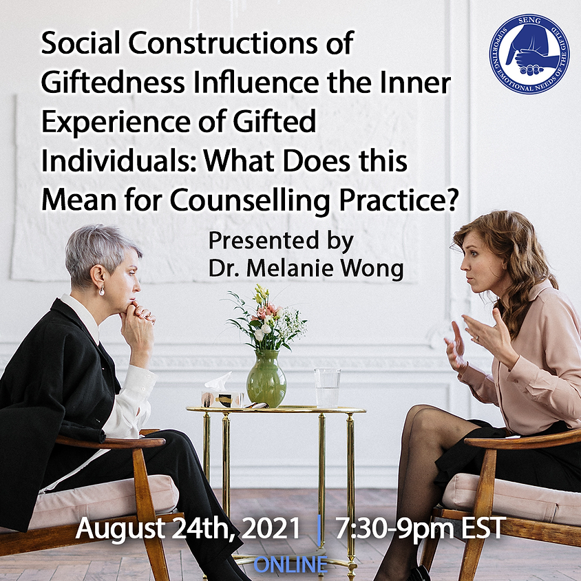 SENGinar: Social Constructions of Giftedness Influence the Inner Experience of Gifted Individuals