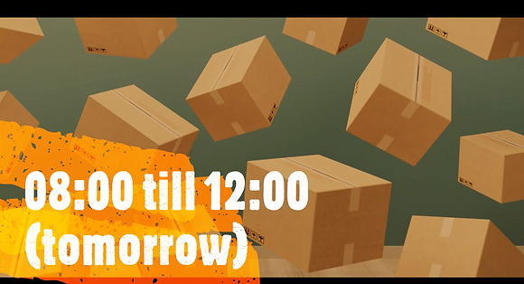 *Oversize* 08:00 till 12:00, Same Day Delivery (tomorrow)