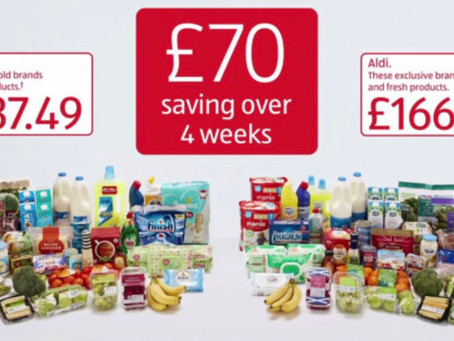 Aldi & then to Sainsbury's for the brands