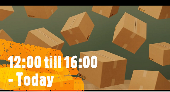 12:00 till 16:00, Same Day Delivery