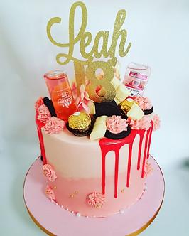 Pink buttercream 18th birthday cake