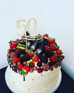 Buttercream and fruits 50 cake