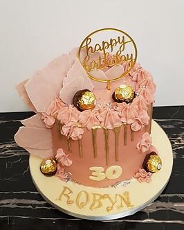 Rose gold buttercream cake
