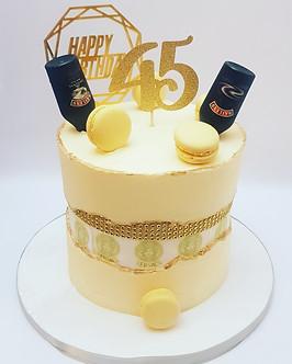 Buttercream designer logo inspired cake