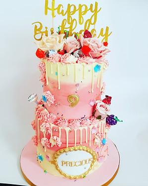 Buttercream sweet girl's 2 tier cake