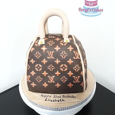 Louis Vuitton Birthday Bag Cake