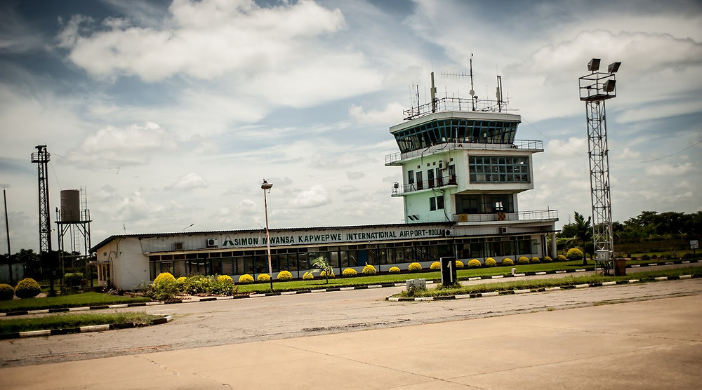 One of the main buildings at the Ndola Airport (Kyle Morrow)