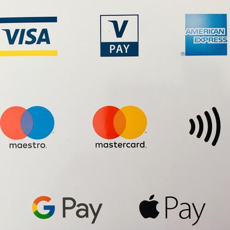 Kreditkarten und EC-Karten werden akzeptiert