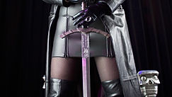 Dominatrix Lady Addison and her sword