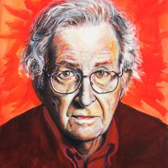 Portrait of Noam Chomsky, philosopher.
