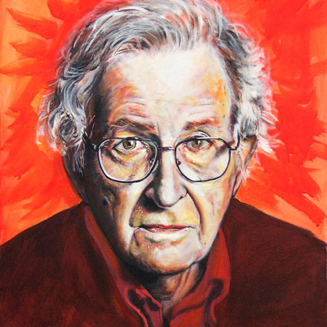 Portrait of Noam Chomsky, philosopher.
