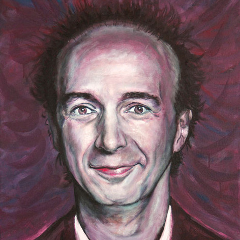Portrait of Roberto Benigni, actor and movie director.