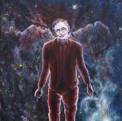 Portrait of Stephen Hawking, physicist.