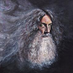 Portrait of Alan Moore, writer.