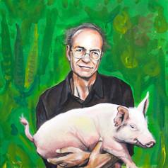 Portrait of Peter Singer, writer.