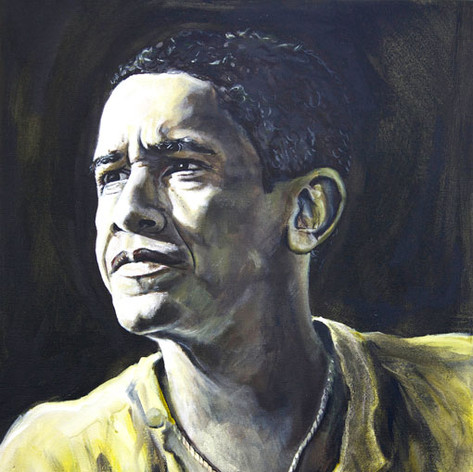 Portrait of Barack Obama, 44th president of the USA.