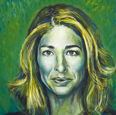 Portrait of Naomi Klein, writer.