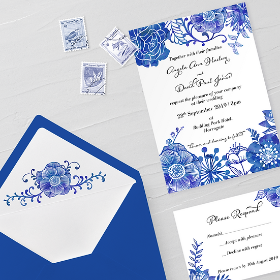 Delft Invitation Suite