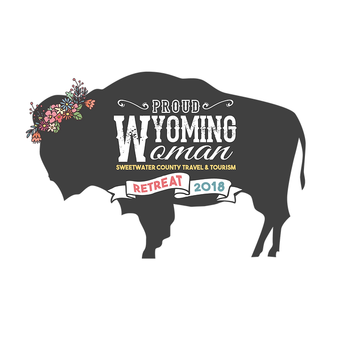 Proud Wyoming Woman Retreat Logo
