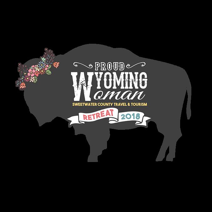 Proud Wyoming Woman Retreat Logo