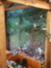 Rocky Coast mural by artist Doug Driediger for Kwisitis Visitor Centre, Pacific Rim National Park
