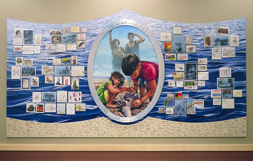 mural painting of 100 celebration in Sylvan Lake