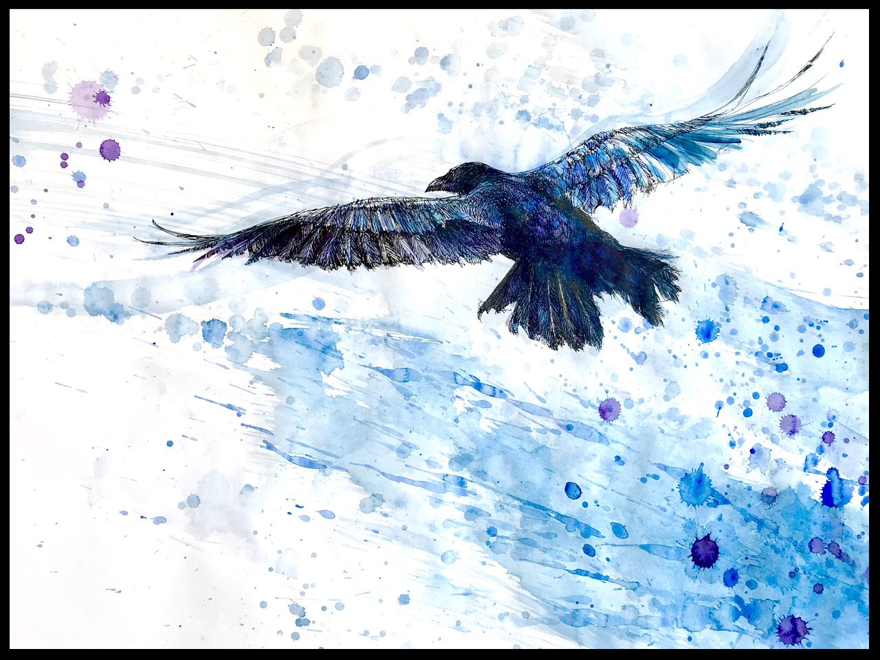 """""""Noah's Raven"""" (colour study)"""